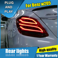 For Benz C-class W205 Red Led Rear Lamps Assembly Led Tail Lights 2014-2020