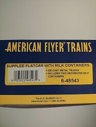 American Flyer Supplee Flatcar With Milk Containers