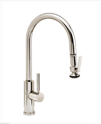 Waterstone 9860-3-ab Modern Plp Pulldown Faucet, Antique Brass, 3pc. Suite