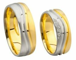Wedding Rings - Kanduumlhnel Silver 925 To Gold 750 - With Brilliant Or Circonia
