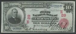Fr613 29 10 1902 Red Seal National New York City Choice Unc Wln332