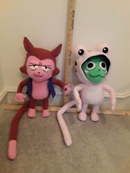 Lector And Frosch From Fairy Tail Ooak Posable Plush Plushie Custom Lifesize Scale