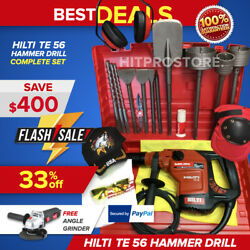 Hilti Te 56 Hammer Drill, Preowned, Free Grinder, Bits, Extras, Fast Ship