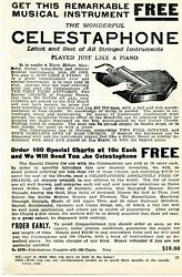 1926 Small Print Ad Of The Wonderful Celestaphone Played Just Like A Piano