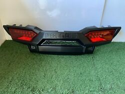 Rear Fascia, 2014- 2018 Rzr Xp4 Turbo And Na, Rear Bumper With Lights, Red
