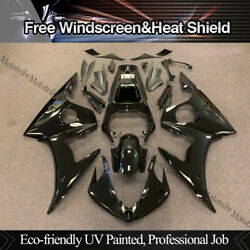 Vivid Black Mold Body Fairing Kit Fit For Yamaha Yzf-r6 2005 Abs Injection Yzfr6