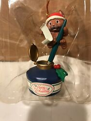 New Rare Lustre Fame Santa Hat Mouse In Ink Well Merry Christmas Ornament 92 93