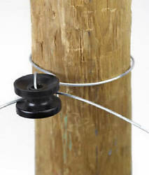 Electric Fence Insulator, High-strain Corner And End Post, Black, 10-pk.