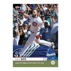 David Bote Walk-off Single Lifts Chicago Cubs To 2-1 Win Topps Now Mlb Card 118
