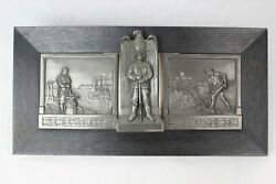 Beautiful German Ww2 Plaque / Bust / Wall Hanger For German Soldiers Large