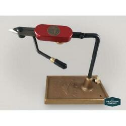 Regal Medallion Vice, Hot Rod Red Stainless Jaws And Bronze Traditional Base   L
