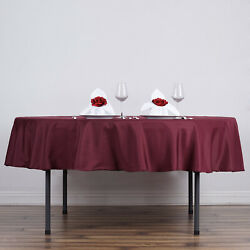 15 Burgundy 90 Round Polyester Tablecloths Catering Restaurant Supplies Sale