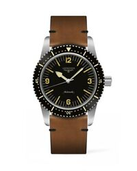 New Longines Automatic Skin Diver Leather Strap Menand039s Watch L28224562
