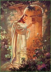Christian print picture Jesus Christ knocking on door 8quot; x10quot; ready to be framed $12.97