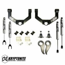 Kryptonite Stage 3 Leveling Kit With Fox Shocks 2020 Chevy Gmc 2500hd 3500hd
