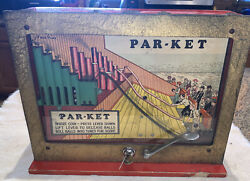 Vintage Rare Penny Par-ket Skee Ball Coin Operated Trade Stimulator Game Machine