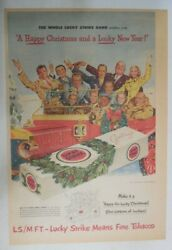 Lucky Strike Ad Jack Benny Show Entire Cast From 1950 Size 11 X 15 Inches