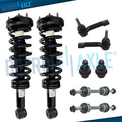 Front Strut Sway Bar Outer Tierod Lower Ball Joints For 2009-2013 Ford F-150 2wd