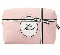 Too Faced Makeup Cosmetic Bag Pink amp; Black New $9.97