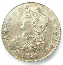 1831 Capped Bust Half Dollar 50c Coin - Certified Icg Ms61 Bu - 1120 Value