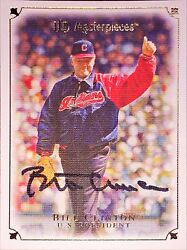President Bill Clinton Autographed Signed 2007 Ud Masterpieces Baseball Card