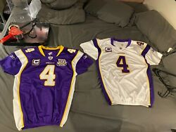 Brett Favre Game Issued Cut Not Worn Vikings Jerseys Rarest Of The Rare 09 And 10