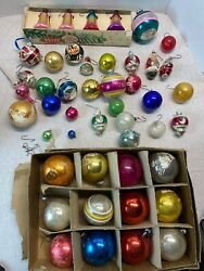 Lot Of 46 Vintage Christmas Ornaments Shiny Brite And More