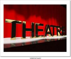Theatre Word On Stage Art/canvas Print. Poster, Wall Art, Home Decor - F