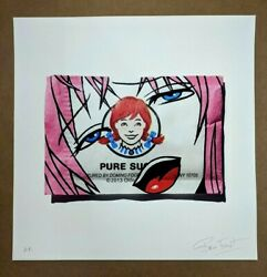 Ben Frost Art Print Pure Sugar Wendys Anime Girl Signed Modern Banksy Obey Dface