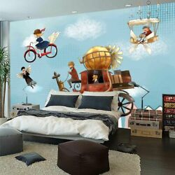 Bicycle Wing Girl 3d Full Wall Mural Photo Wallpaper Printing Home Kids Decor