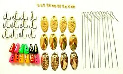 60 Pcs Inline Spinner Making Kit Trout Crappie Bass Spinners Diy 3/16 Oz Lure