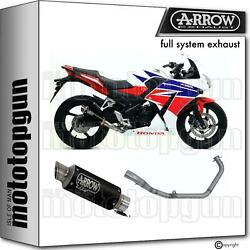 Racing Nocat Slip-on Complete Arrow Gp2 Black Nichrom Honda Cbr 300 R 14/17