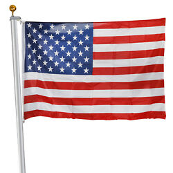 20ft Sectional Aluminum Flagpole Gold Ball Kit With 3and039x5and039 Us American Flag
