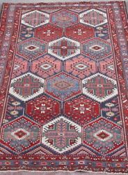 Outstanding Tribal Antique 1910and039s Hand-knotted Wool Oriental Rug 4and0396 X 6and039