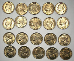 Full Roll Of Forty 40 1950-d Jefferson Nickels 5c - Nice Bu Ms Uncirculated