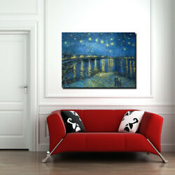 Starry Night Over The Rhone By Vincent Van Gogh Canvas Wall Art Wall Print