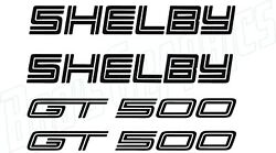 4 Pcs Ford Mustang Shelby Gt500 Vinyl Decal Sticker Window