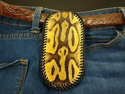 New Ball Python Coin Purse Slapjack Tactical Leather Edc Wallet Molle Belt Pouch