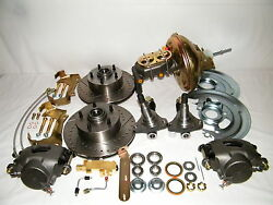 Gm Front Disc Brake Conversion Kit Spindles Drilled And Slotted Rotors Afx Body