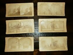 Lot Of 6 Ingersoll Company Stereoviews Pompeii, Jersualem And Naples San Martino