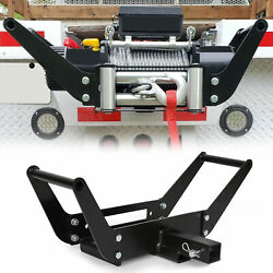 Winch Mounting Plate Bracket Foldable Cradle Atv For Truck Trailer 4wd