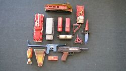 Vintage Metal And Plastic Toy Parts Lot Marx Lionel Wind Up Tin