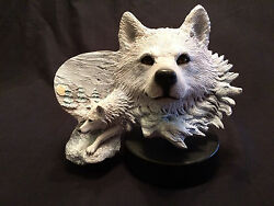 Rick Cain Limited Edition Arctic Son 1300/2000 Carved Arctic Wolf - New