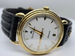 Authentic Maurice Lacroix 18kt Gold Automatic Watch 11506 Leather Pre-owned