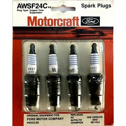 Awsf24c Motorcraft Ford, All Makes Truck, Cars,4 Spark Plugs Card, 5/8, Vintage
