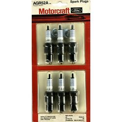 Agr52a Motorcraft Ford, All Makes Truck, Cars,6 Spark Plugs, 13/16, Vintage