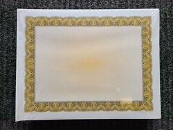 250 Certificate Paper 8 1/2 X 11 Gold Border And Burst