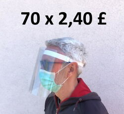 70x Full Face Protection Visors Reusable Lightweight And Comfortable Shields