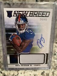2014 Elite Odell Beckham Jr. New Breed Rookie Patch Auto Jersey 24/49 Rc
