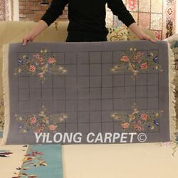 Yilong 3and039x4.7and039 Hand Knotted Wool Carpet Chinese Art Deco Home Indoor Area Rug